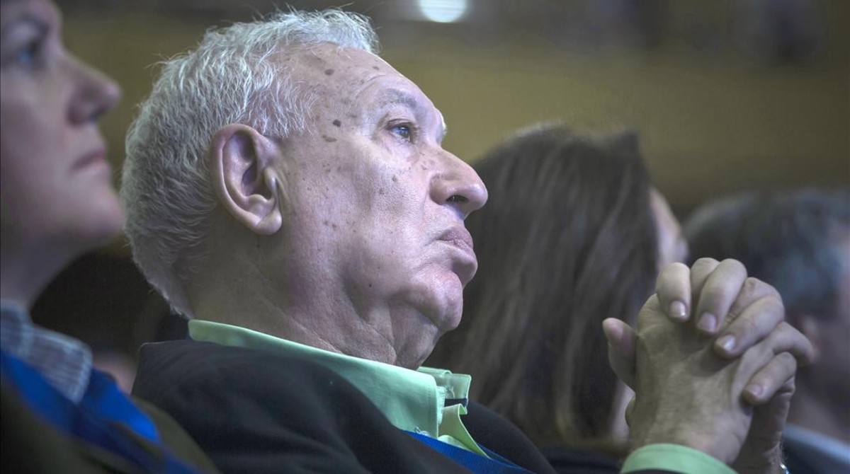 García-Margallo durante la clausura del XIV congreso del PP-CV