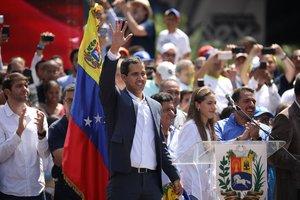 Juan Guaidó, en una manifestación contra Nicolás Maduro, en Caracas el pasado 2 de febrero.