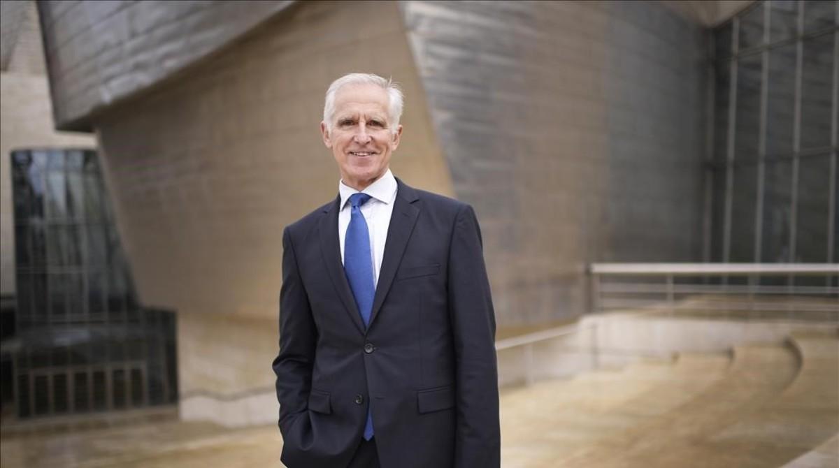 Juan Ignacio Vidarte, director del Guggenheim de Bilbao, durante la entrevista con EL PERIÓDICO.