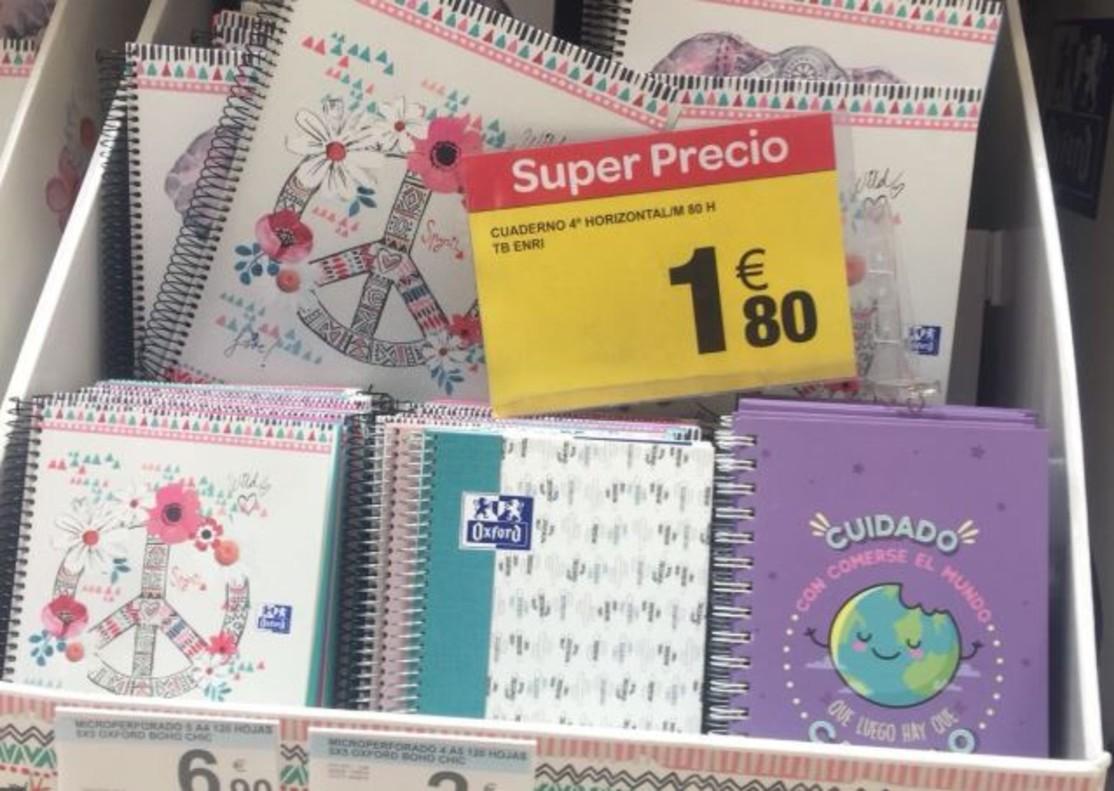 Las agendas escolares en Carrefour.