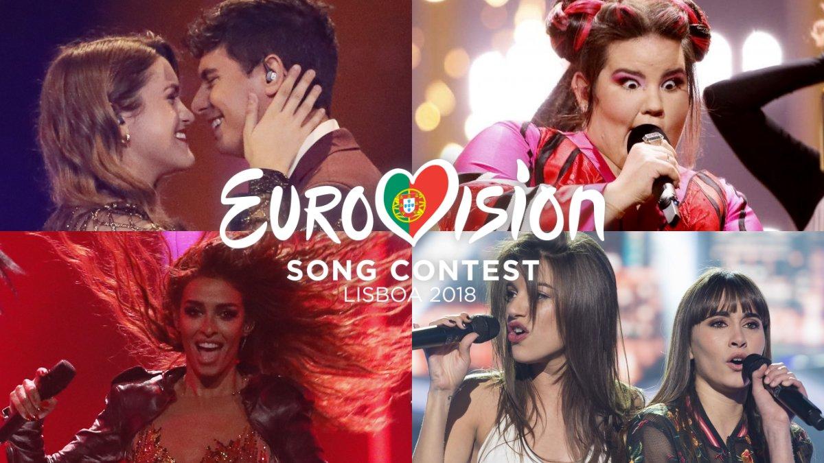 Las canciones de Eurovisión que más han triunfado en este 2018.