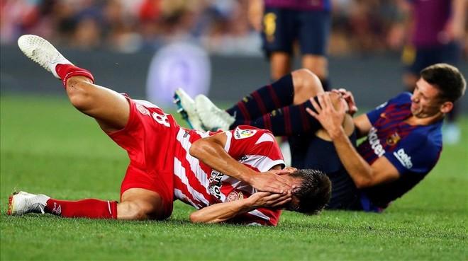 Lenglet ha sido expulsado tras un codazo a Pere Pons.