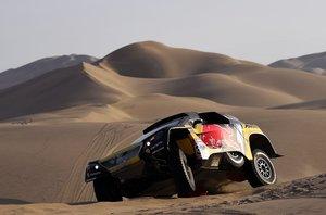 Loeb, durante la segunda etapa del Dakar 2019.