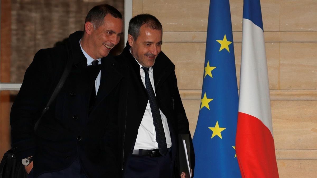 Simeoni y Talamoni, tras entrevistarse con Philippe.