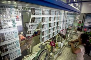Venta de Lotería de Navidad en la administraciónValdés de laRamblade Barcelona.