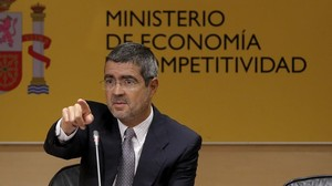 Fernando Jimenez Latorre, en su ultima rueda de prensa como secretario de Estado de Economía en agosto del 2014.