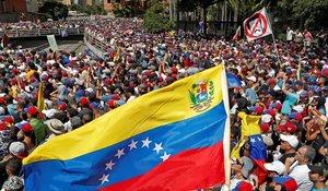 Manifestación contra Nicolás Maduro en Caracas.