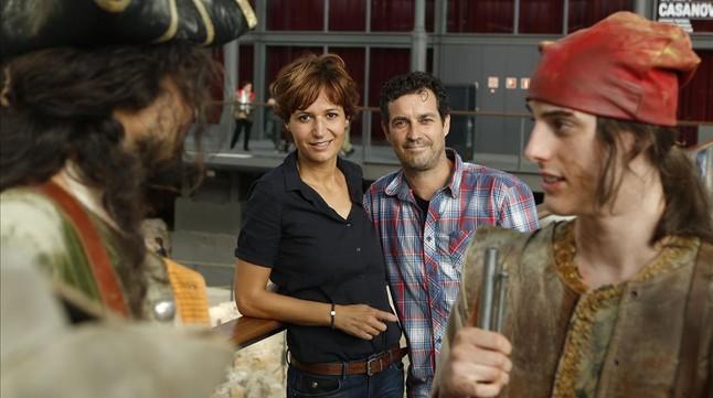 Marc Cartes y Silvia Bel, en la presentación de la miniserie, ahora frustrada.