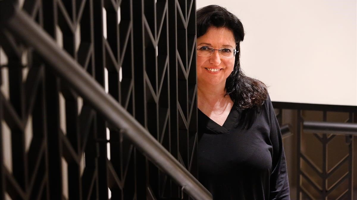 La periodista y escritora Mari Pau Domínguez, en Barcelona.