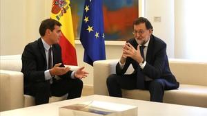 Mariano Rajoy y Albert Rivera, el pasado 7 de septiembre enel Palacio de la Moncloa