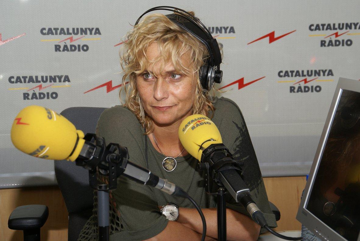 Mònica Terribas, en el estudio de 'El matí de Catalunya Ràdio'.