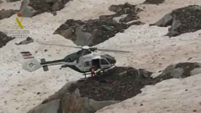 Mor un muntanyenc a la cresta del pic Posets, al Pirineu d'Osca