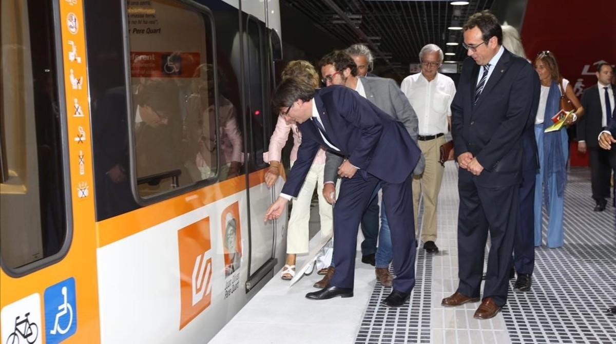 Puigdemont inaugura noves estacions de FGC a Sabadell.