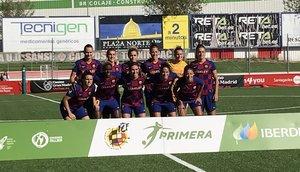 El once del Barça en Matapiñonera.