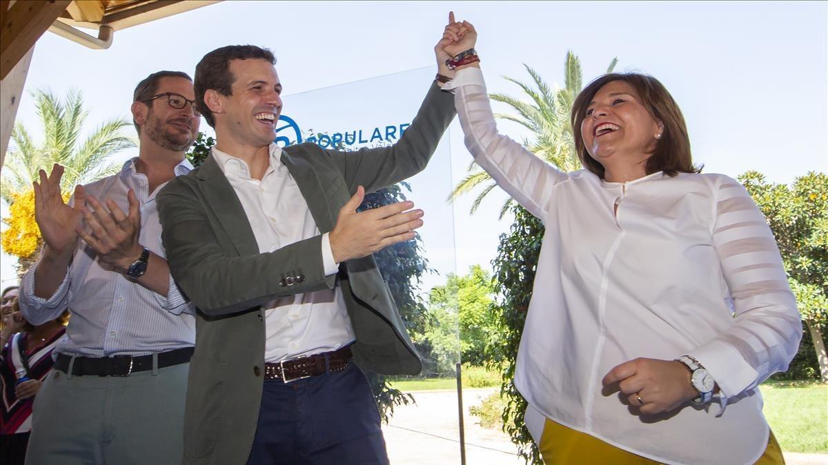 Pablo Casado, este sábado en Valencia