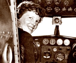 (FILES): In this hndout file photo obtained June 09, 2015, a May 20, 1937 photo shows US aviator Amelia Earhart at the controls of her Lockheed 10 Electra. == RESTRICTED TO EDITORIAL USE / MANDATORY CREDIT: AFP PHOTO / HANDOUT / ALBERT BRESNIK / NO MARKETING / NO ADVERTISING CAMPAIGNS / NO A LA CARTE SALES / DISTRIBUTED AS A SERVICE TO CLIENTS ==