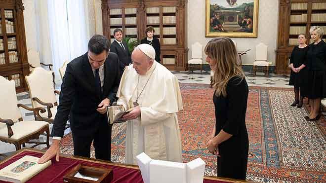El Papa, a Sánchez: «Un governant ha de construir la pàtria amb tots»