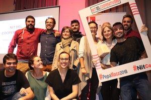 Participantes de la Noche del Cooperativismo celebrada en Mataró.