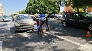 El patinete accidentado en Sevilla.