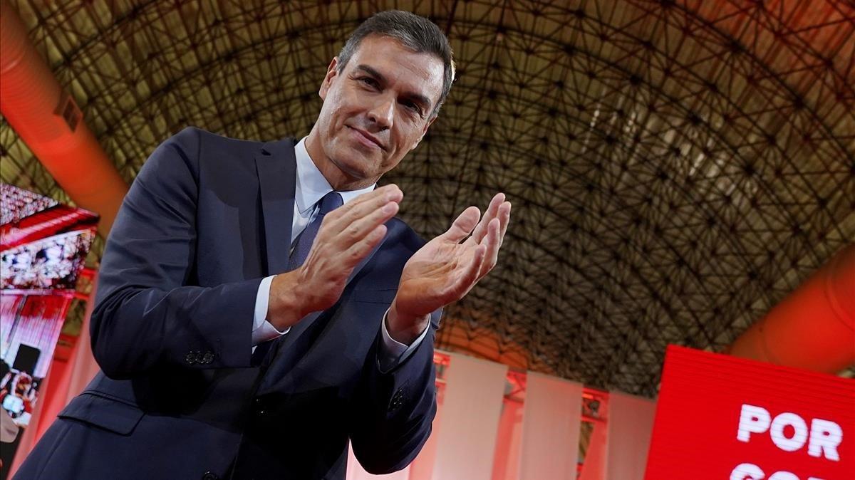Pedro Sánchez,en la presentación delPrograma Común Progresista.