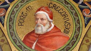 Pintura que reproduce la efigie del papa Gregorio XIII.