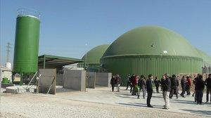 Planta de biogás en Lleida.
