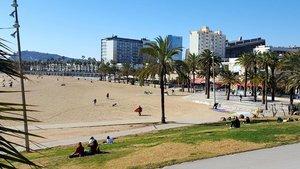 La playa del Somorrostro, en Barcelona.