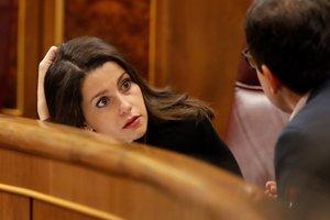 La portavoz de Ciudadanos en el Congreso, Inés Arrimadas, durante unasesión de control al Gobierno.