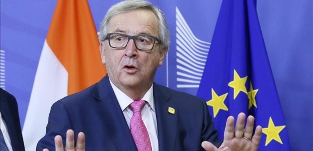 El presidente de la Comisión Europa, Jean-Claude Juncker, horas antes del inicio de la última cumbre europea del año 2016.