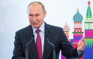 El presidente ruso, Vladímir Putin,en una conferencia de la fundación israelí Keren Hayesod en Moscú.