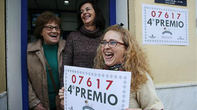 Primer cuarto premio caído en Málaga.
