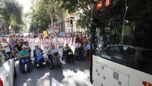 Protesta vecinal por la supresión del bus 192, el 28 de septiembre.