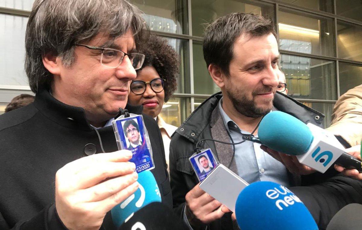 El jutge Llarena demana a l'Europarlament que aixequi la immunitat a Puigdemont i Comín