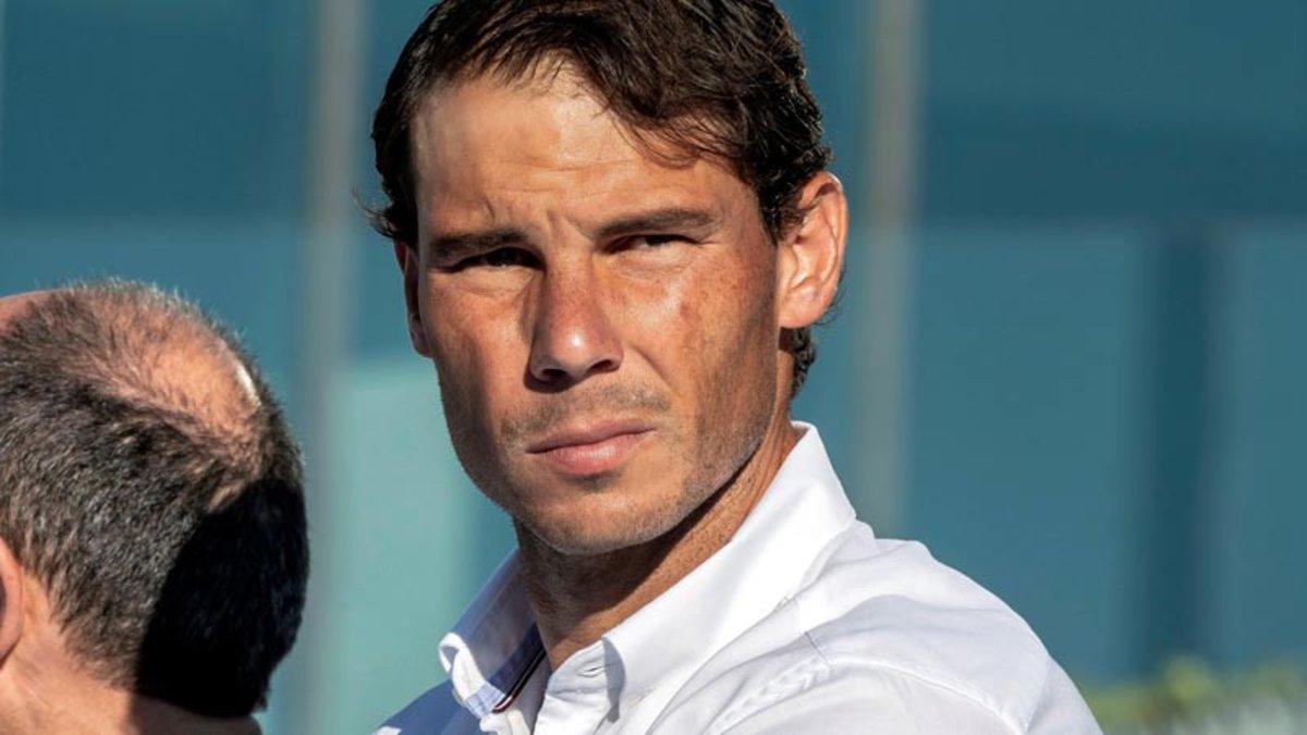 Rafa Nadal, en su centro de formación de tenistas de Manacor (Mallorca).