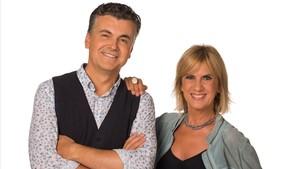Ramon Gener y Gemma Nierga, presentadores de La Marató de TV-3.