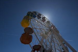 La noria del parque de atracciones del Tibidabo