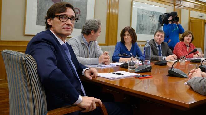 El ministro Salvador Illa preside la reunión del comité de evaluación y seguimiento del coronavirus.