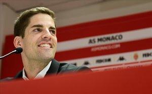 Robert Moreno en rueda de prensa del Mónaco