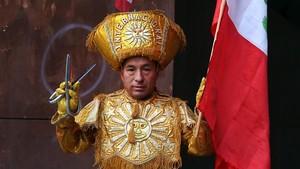 Rómulo Lifoncio, danzante de tijeras.
