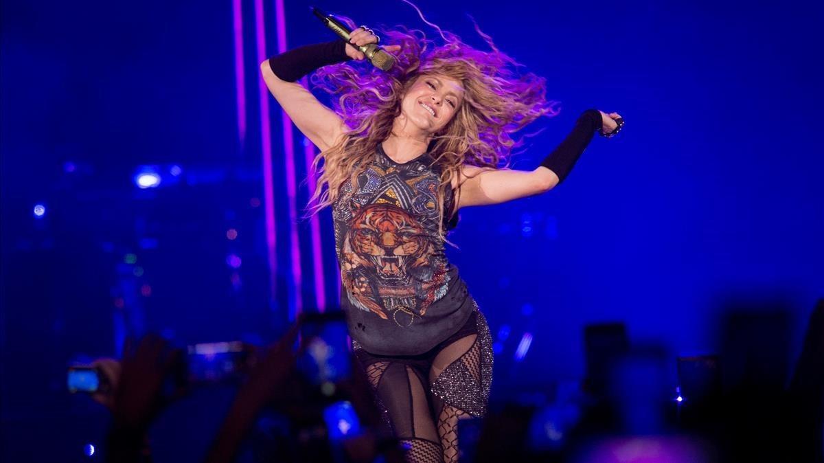 Shakira, el pasado martes en Madrid