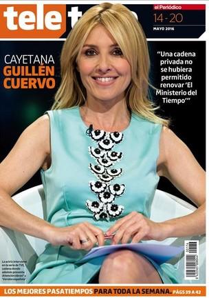 Portada del suplemento Teletodo protagonizada por Cayetana Guillén Cuervo.