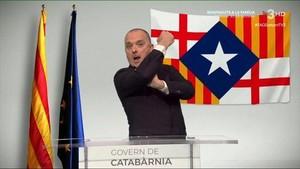 Toni Albà president de Catabàrnia en TV-3.