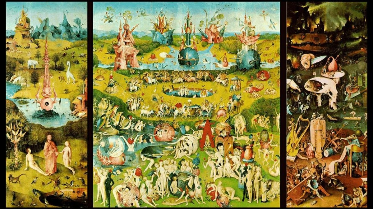 El tríptico El jardín de las delicias, una de las obras maestras de la gran exposición que el Prado dedica a El Bosco.