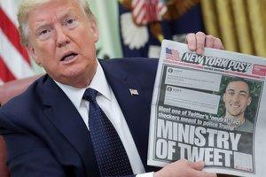 Trump, durante la rueda de prensa sobre la orden ejecutiva contra las redes sociales.