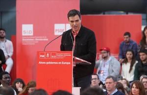 El líder del PSOE, Pedro Sánchez, en la clausura de la Escuela de Buen Gobierno.