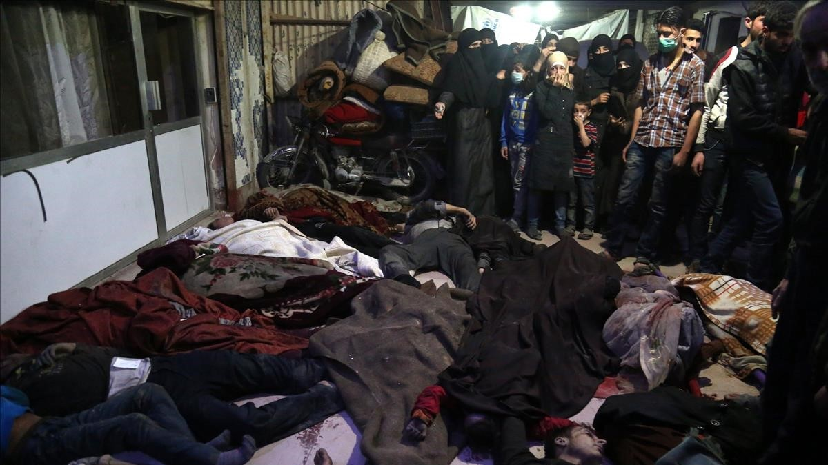Víctimas del ataque químico en Duma.