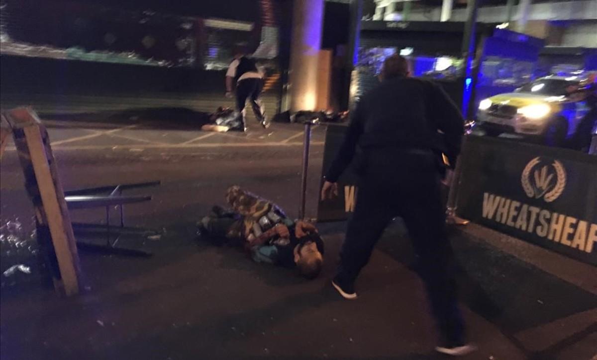 Uno de los atacantes de Londresabatidos por la policía