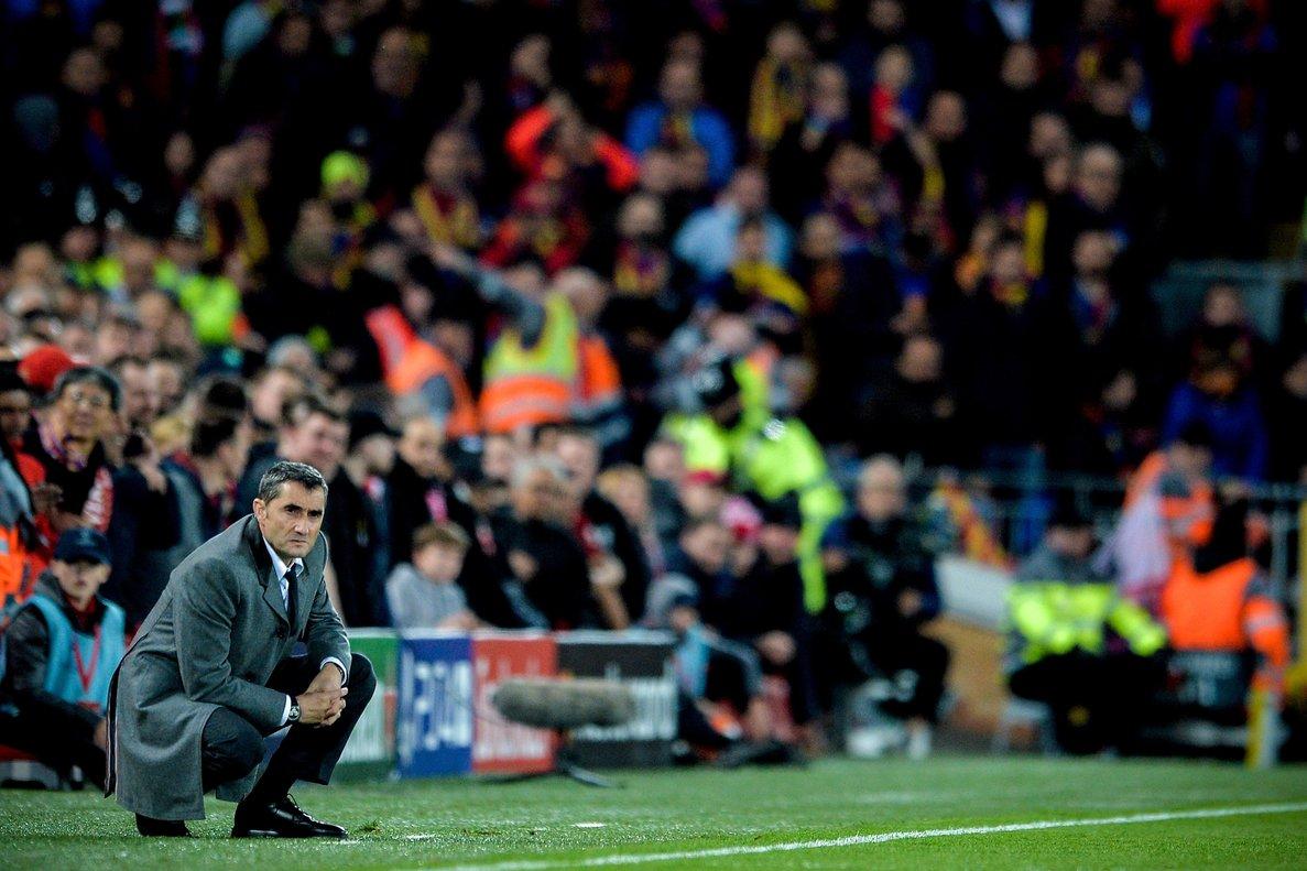 Ernesto Valverde, testigo directo de la catástrofe del Barça en Liverpool.