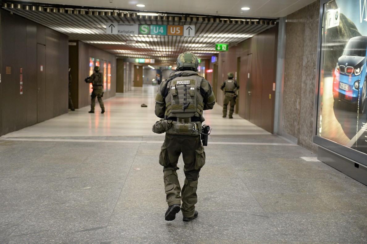 Policías de las fuerzas especiales en Múnich en el 2016.