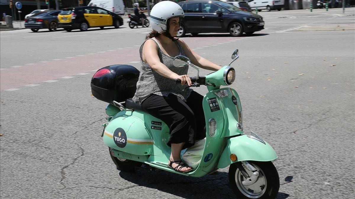 Vehículo de motosharing en Barcelona.